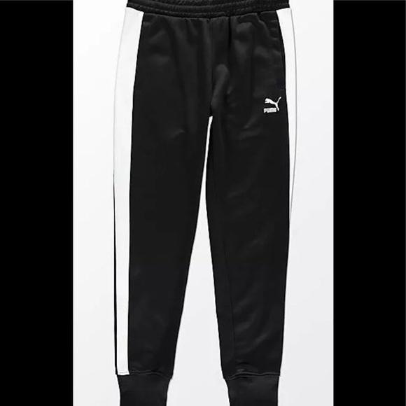 c8179e65707d PUMA MENS ARCHIVE T7 TRACK SWEAT PANTS BLACK
